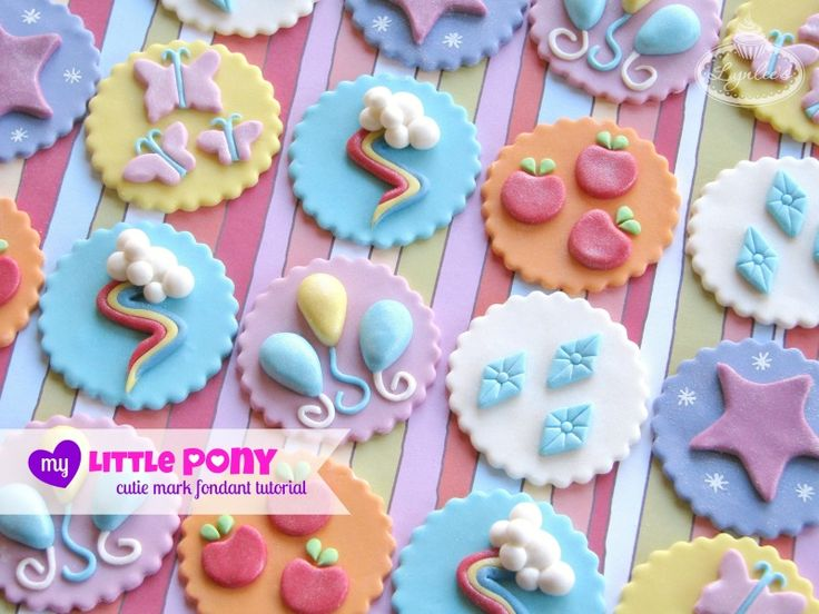 DIY My Little Pony cutie mark fondant topper tutorial