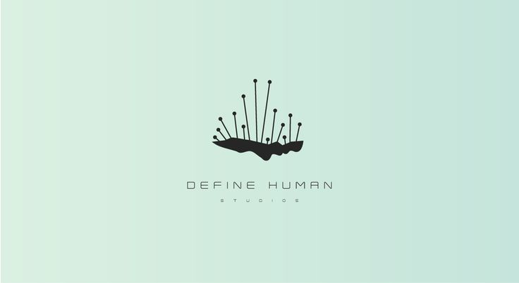 Create an elegent and thought provoking Sci-Fi/Cyborg Logo for Define Human Studios game dev company by No. 6