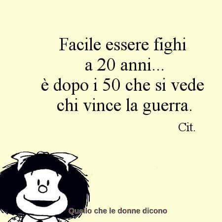 Mafalda - facile essere fighi a 20 anni ...