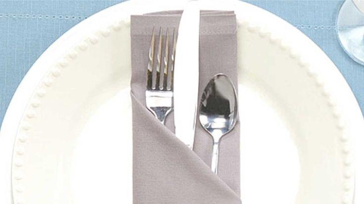 How to Fold a Napkin Pocket