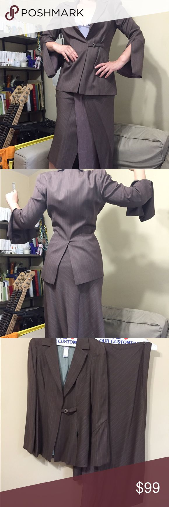 Vintage Kenzo Long asymmetric skirt & jacket Unique piece in great condition! Please send me your best offer!!! 💵💰100% wool outside, Linen 100% viscose - worn once only, great condition - size 38 (French size) - pet free & smoke free household Kenzo Other