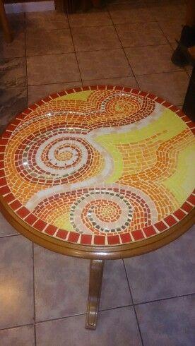 Mosaico de cerámicas y vidrio
