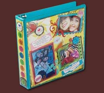 Decorated binder - It would be a cute photo album or scrapbook
