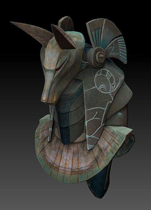ArtStation - Stargate SG1 Anubis Mask, Tony Celliers
