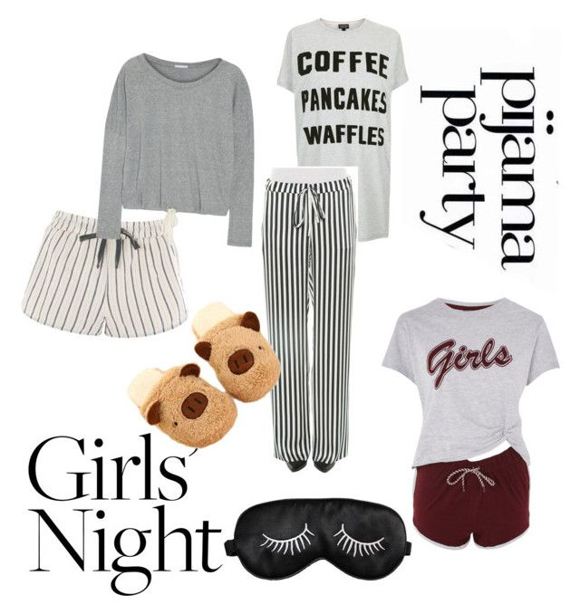 """""""Girls Night"""" by maddy-s8674 on Polyvore featuring Pijama, Topshop, Marques'Almeida and Eberjey"""
