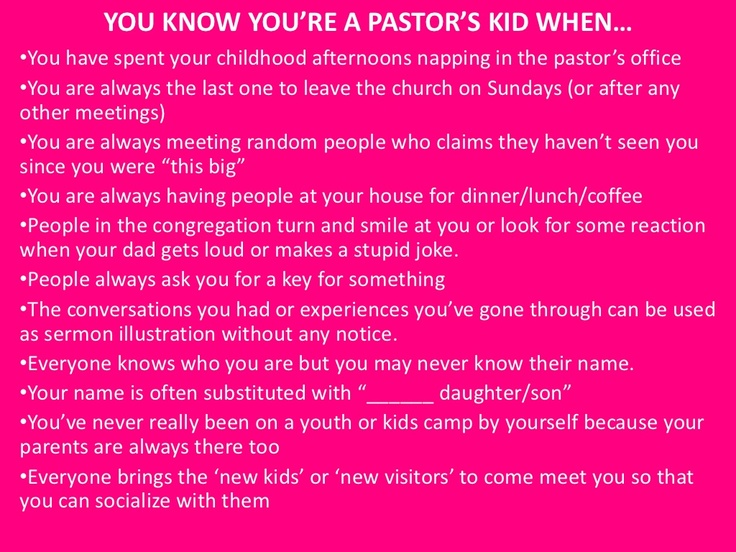 you-know-youre-a-pastors-kid-when by Kathryn Castro via Slideshare