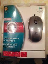 V150 Logitech Laser Mouse FOR Notebooks 097855039101 | eBay