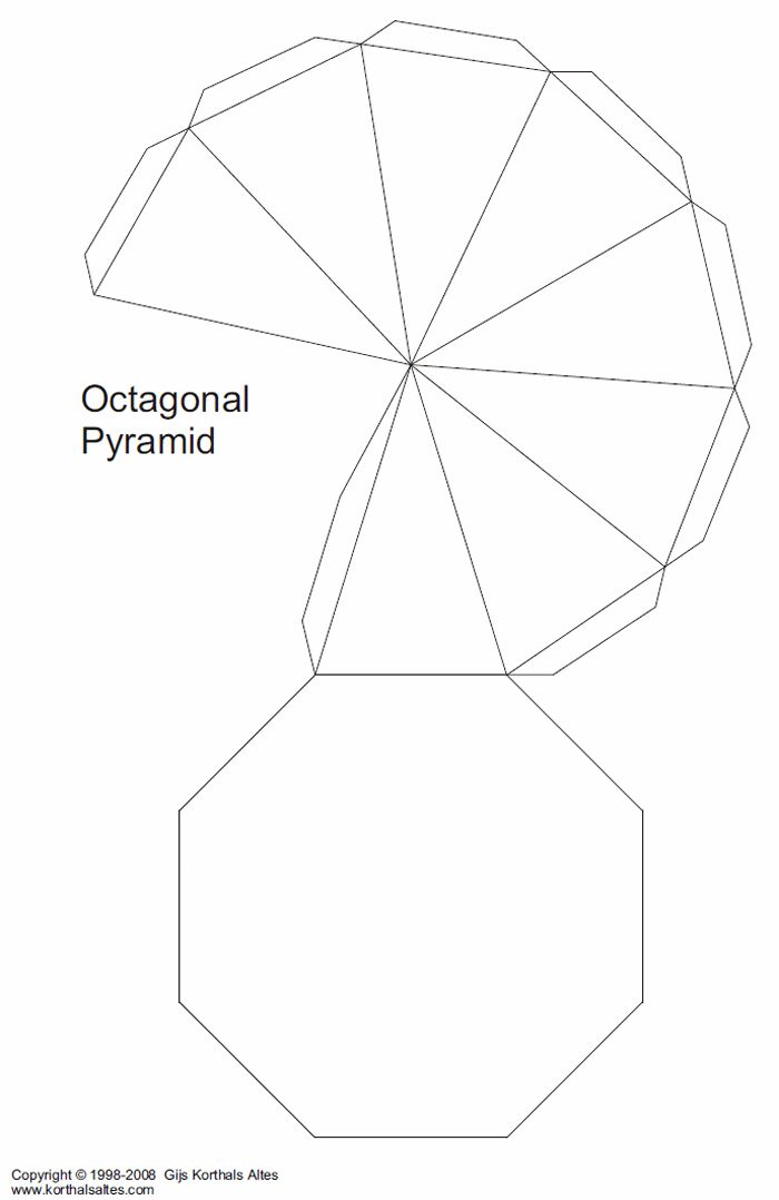 Paper Models of Multi Side Base Pyramids