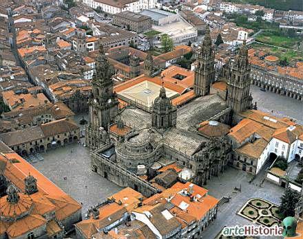Spain, Santiago de Compostela Cathedral, Galicia.