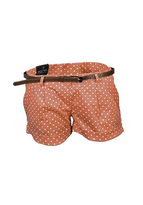 White Polka Dot Shorts, pocket thread, leather belt. Made in Italy. BUY IT NOW ON www.dezzy.it!