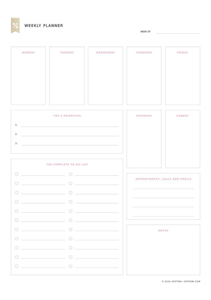 Best 25+ Planner template ideas on Pinterest Weekly planner - event planning template free