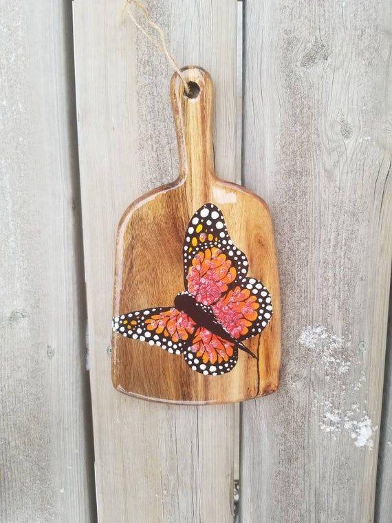 Monarch Butterfly Wall Art Rustic Kitchen Decor Farmhouse Wall Decor Garden Decoration Nature Home Decor Butterfly Painting Butterfly Wall Art Butterfly Wall Butterfly Painting