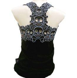 Rockabilly Punk Rock Baby Tattoo Tiki Skull Tank Top Shirt S M L Xl Xxl