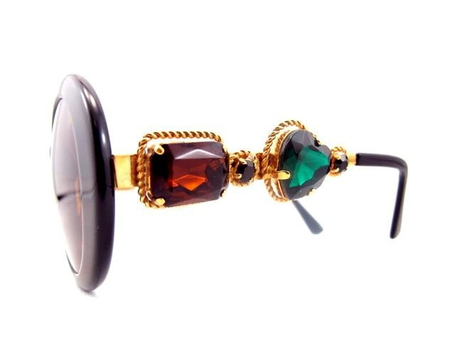 vintage bejeweled moschino sunglasses