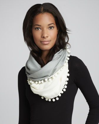 coach outlet coupons Pom-Pom Infinity Scarf - Neiman Marcus | Fashion & Beauty |  | Infinity Scarfs, Infinity and Scarfs