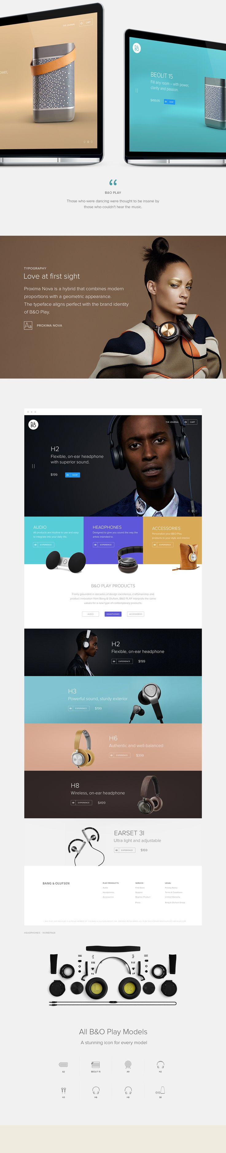 B&O Play - Design for music on Web Design Served