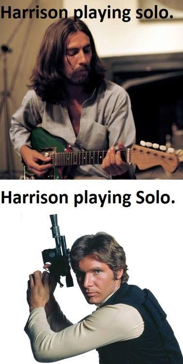 Star Wars, Harrison Ford, Han Solo, George Harrison, Beatles, funny, win