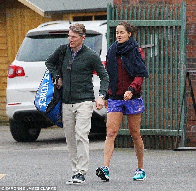 German gentleman Bastian Schweinsteiger is using his injury break to lend a hand to girlfr...