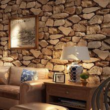 3d tijolos de pedra piso de pvc impermeável papel de parede mural sala fundo parede rolo de papel(China (Mainland))