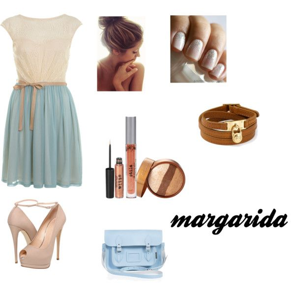 as reviravoltas da vida by margarida-costodio on Polyvore featuring Miss Selfridge, Giuseppe Zanotti, Zatchels, MICHAEL Michael Kors, Stila and Essie