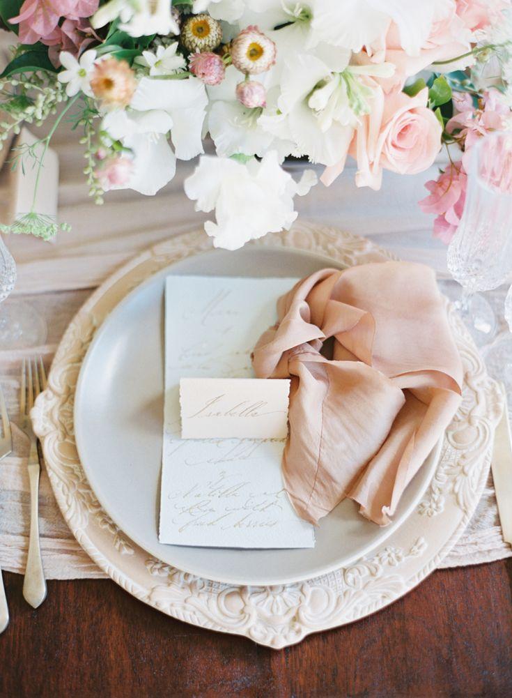 Blush wedding table setting decor: Photography: MATTHEW REE PHOTOGRAPHY - matthewree.com Photography: CLY BY MATTHEW - clybymatthew.com Read More on SMP: http://www.stylemepretty.com/destination-weddings/2017/04/26/romantic-wedding-inspiration-in-old-havana-cuba/