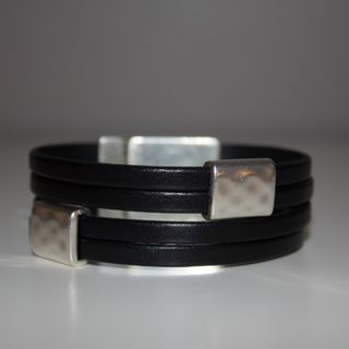 HalaBay Design black leather bracelet!