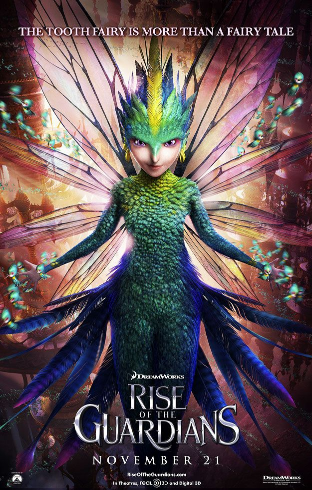 Rise Of The Guardians - Tooth Fairy  - my eldest lost her first tooth tonight so we're looking for the Tooth Fairy together on Pinterest :)