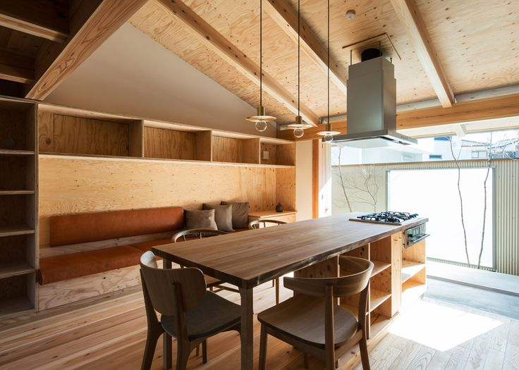 Image 1 Of 26 From Gallery Of Fence House / Hitotomori/Tomoko. Photograph  By Youhei Sasakura. Plywood Interior ...