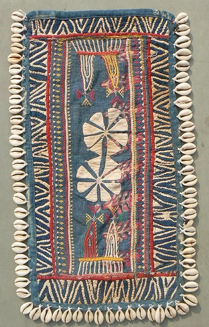 "Old/Antiq Banjara Indian textile known as a ""Galla\"" used as a part of a woman's headpiece to cover the back of her neck."