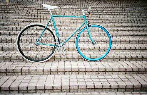 Wow, that's a beautiful bike! I love the colors.