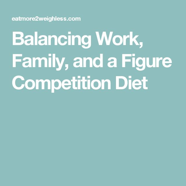 Balancing Work, Family, and a Figure Competition Diet