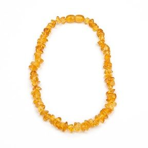 amber teething necklace $22