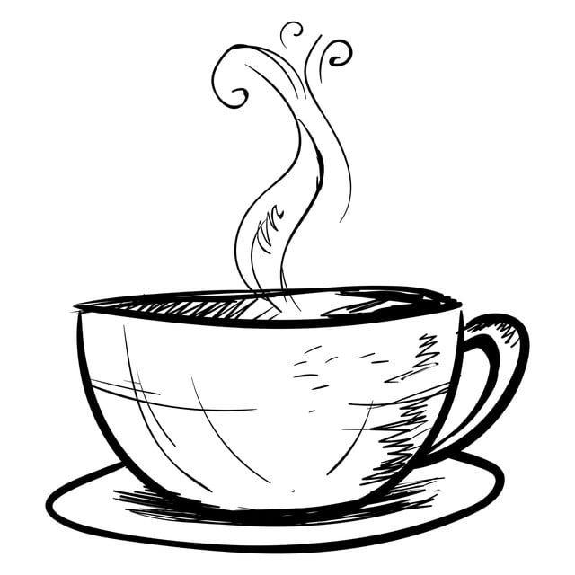 فنجان القهوة رسم تصوير سهم التوجيه على أبيض الخلفية الحار التصميم معزول Png والمتجهات للتحميل مجانا Coffee Cup Drawing Cute Coffee Cups Coffee Vector