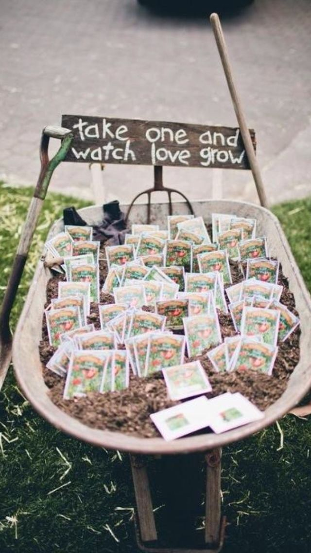 LOVE this idea. just have to think of what flowers to hand out.                                                                                                                                                                                 More