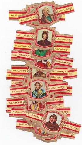 40 cigar bands Alvaro Descubridores de America Discoverers of america