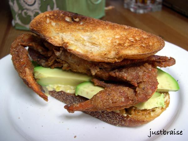 Softshell crab sandwich | YUMMY*CUiSiNE | Pinterest