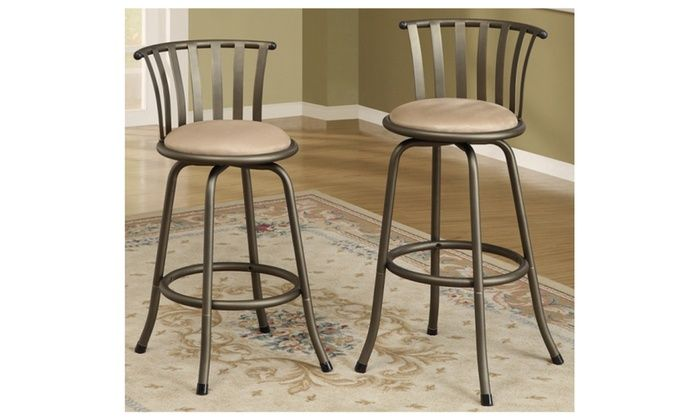 2pc Adjustable Height 24 Or 29 Swivel Metal Bar Counter Stools Swivel Bar Stools Bar