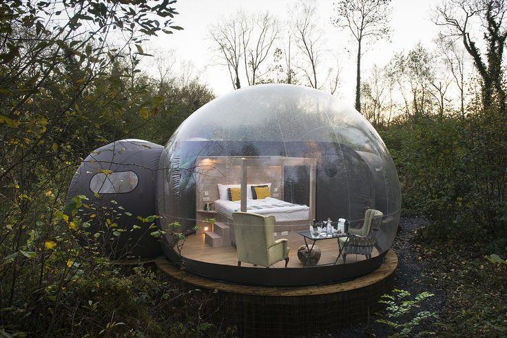 Transparent bubble dome