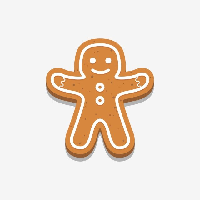 Holiday Gingerbread Man Cookie Icon Happy New Year Decoration Merry Christmas Holiday Cookie Gingerbread Icon Png And Vector With Transparent Background For New Years Decorations Christmas Holidays Merry