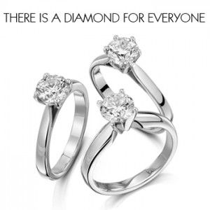 Some beautiful round brilliant diamond engagement rings, from Laings of  Glasgow.