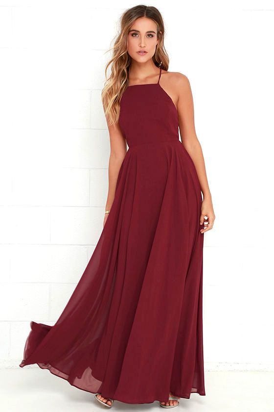 How to style red maxi dress