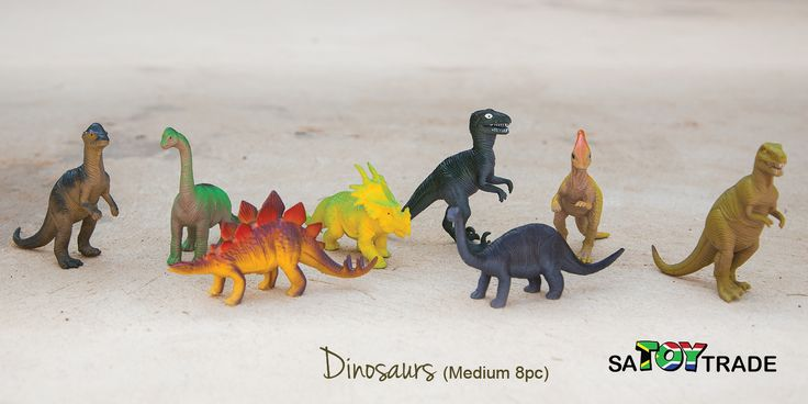 Dinosaur Toys are great for Toddlers, Boys & Girls. Keep your children playing for hours with these beautiful crafted dinosaurs. This packaged consist of 8 different plastic dinosaurs species. Developed to enhance fine motor skills, creativity and fantasy play. Ages 3+