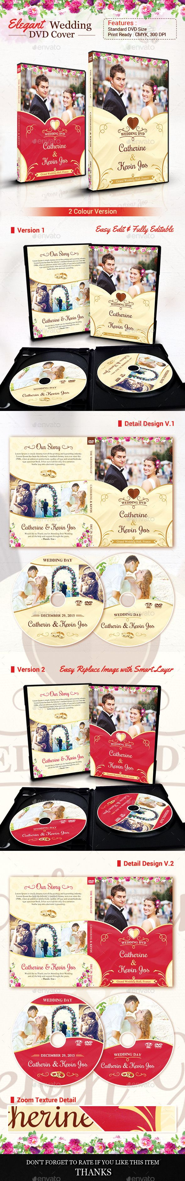 Elegant Wedding DVD Covers and Disc Label — Photoshop PSD #cd case #modern dvd • Available here → https://graphicriver.net/item/elegant-wedding-dvd-covers-and-disc-label/12514535?ref=pxcr