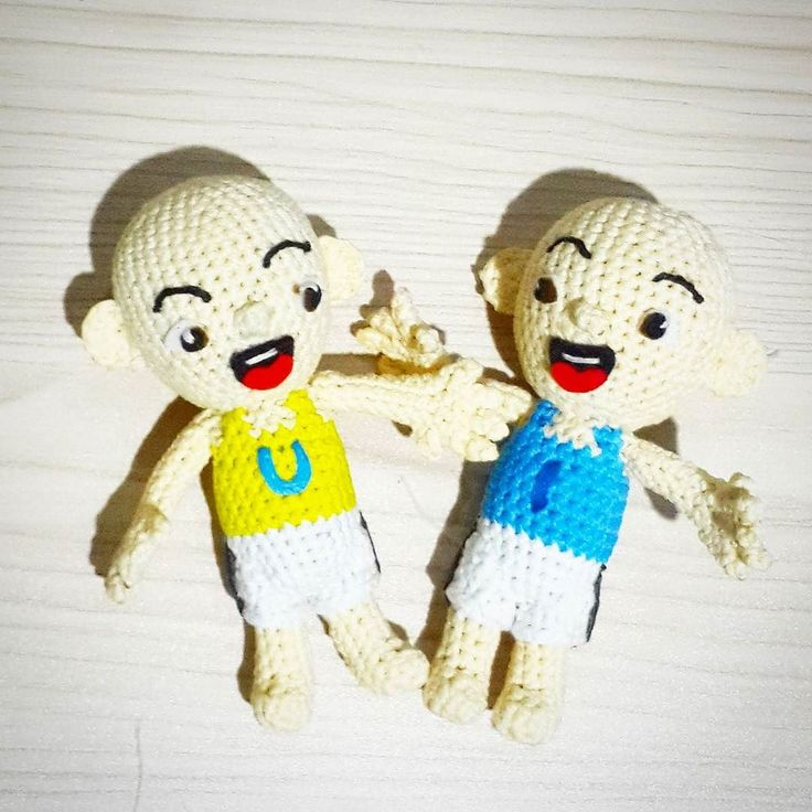 Ipin upin unfinished   #crochet #amigurumi upin #ipin #upinipin#customgift  #boneka #rajutan #bonekarajut #rajut #bagcharm #keychain #souvenir #project #openorder #custom #babababanana #etsy #craft #art #handmade #handcraft #kado #kadounik #custom #customegift #surabaya #souvenir #couple #love by crochethobby