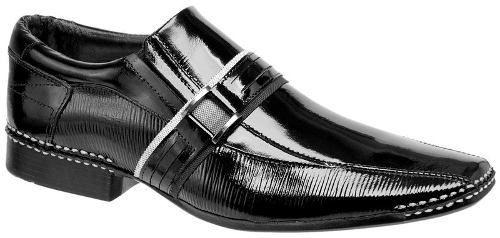 sapato social masculino couro verniz legítimo frete grátis
