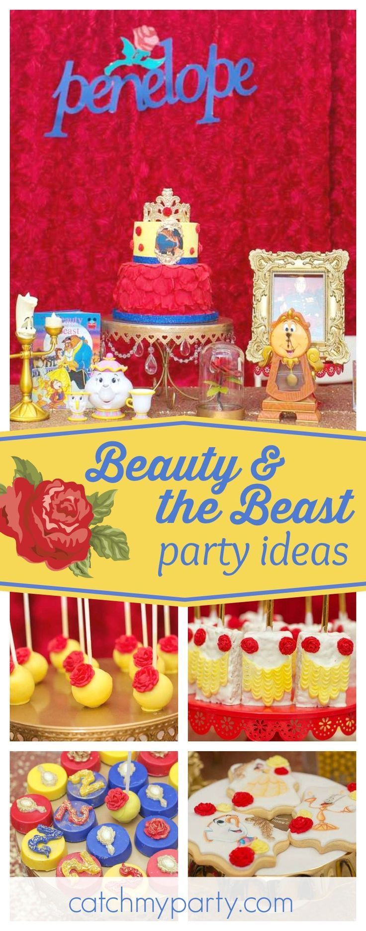 68 best Beauty and the Beast Birthday Party Ideas images on ...