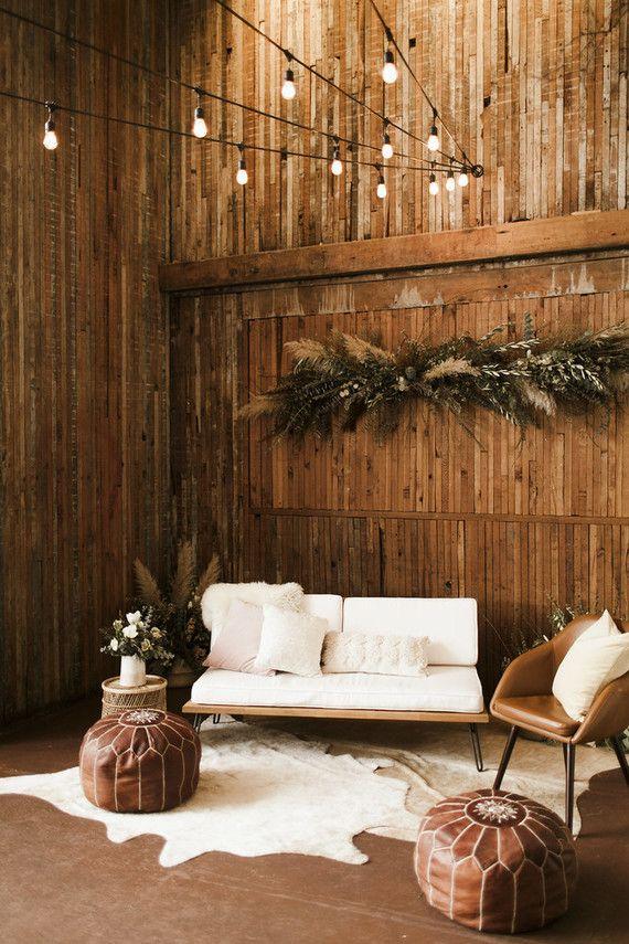 Boho Lounge Decor At Sole Repair Seattle Rock Stone Weddings Wedding Lounge Area Outdoor Lounge Area Lounge Areas
