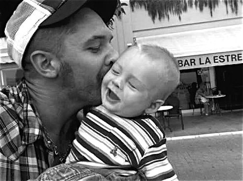 tom hardy and his son, louis thomas hardy! If I wasn't in love before, I am now!!!!