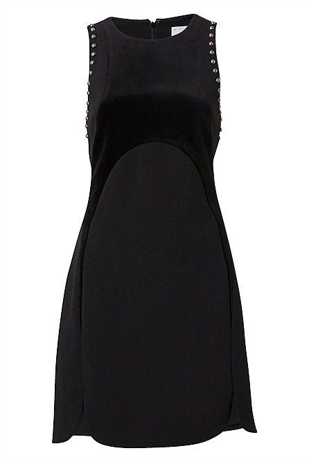 Embelished Spliced Dress