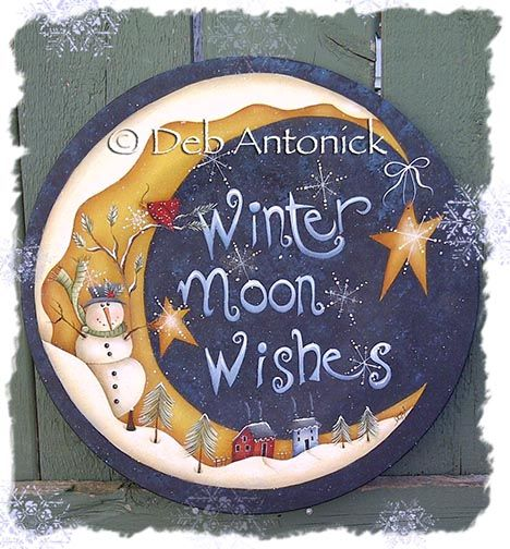 The Decorative Painting Store: Winter Moon Wishes, All Pattern Packets